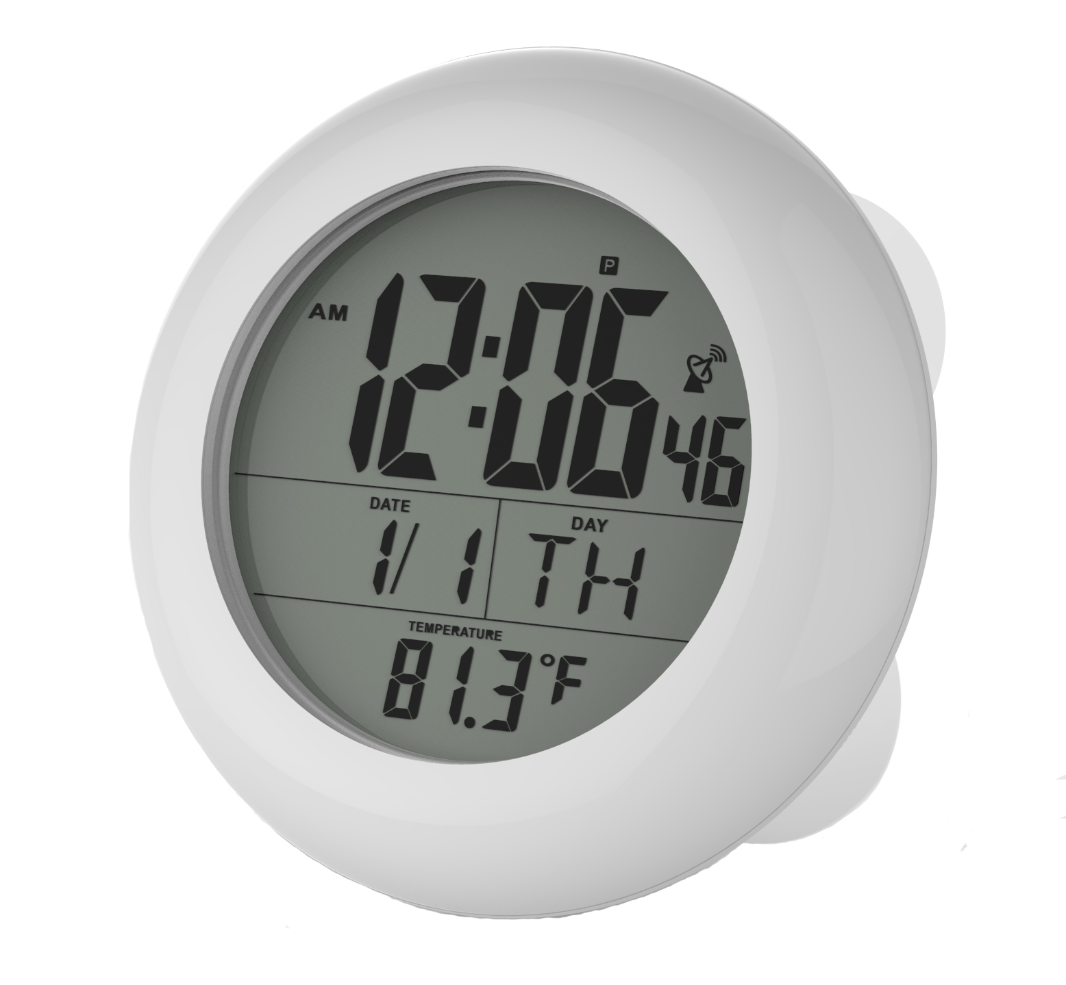 Sonnet Ken-Tech T-4652 Atomic Radio Controlled LCD A larm Clock Black Blue Light 1.5-Inch